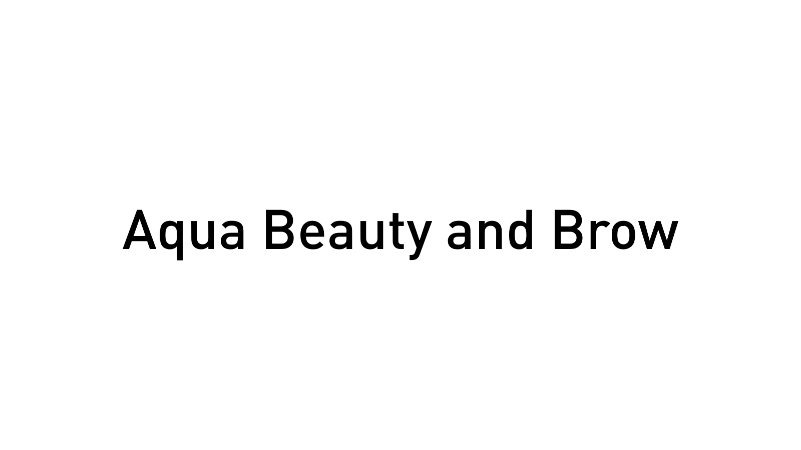 Aqua Beauty and Brow- Temporarily Closed
