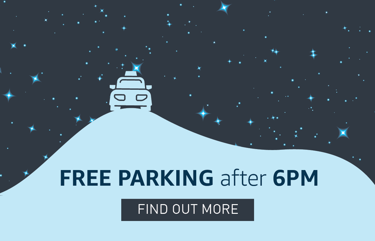 FREE parking after 6PM