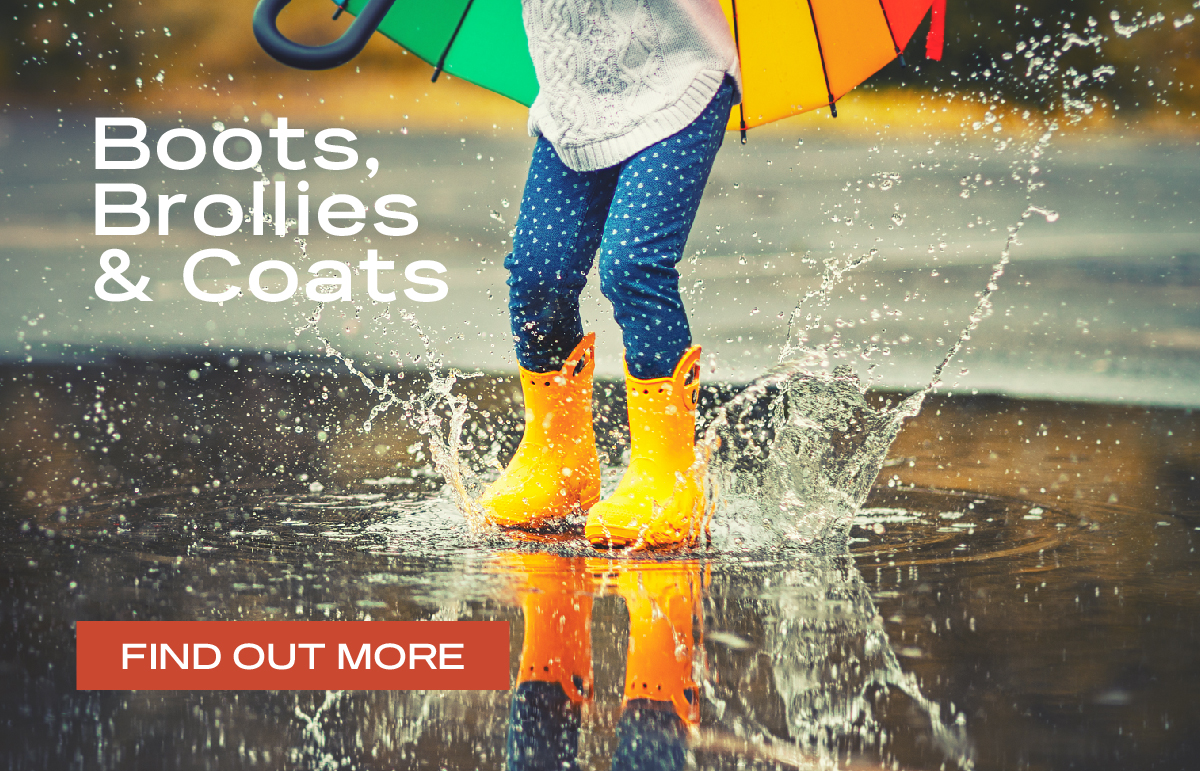 Boots, Brollies & Coats for Kids