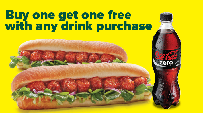 Subway Buy One Get One FREE