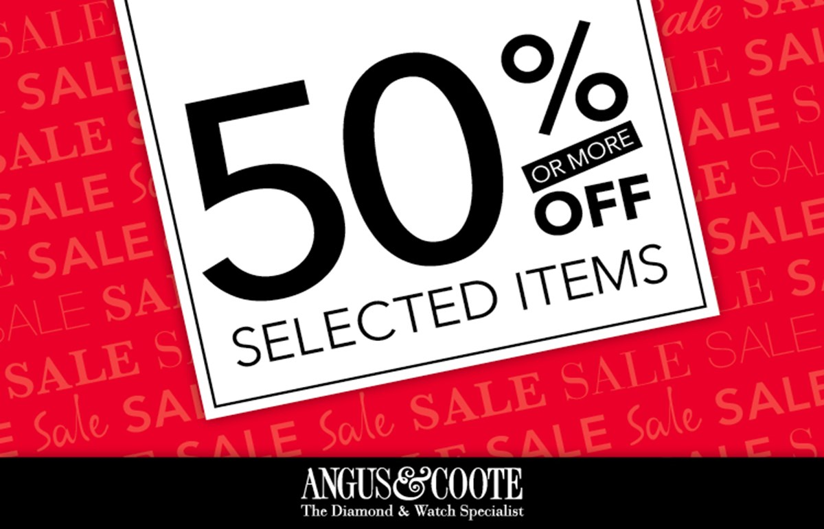 Up to 50% off at Angus & Coote