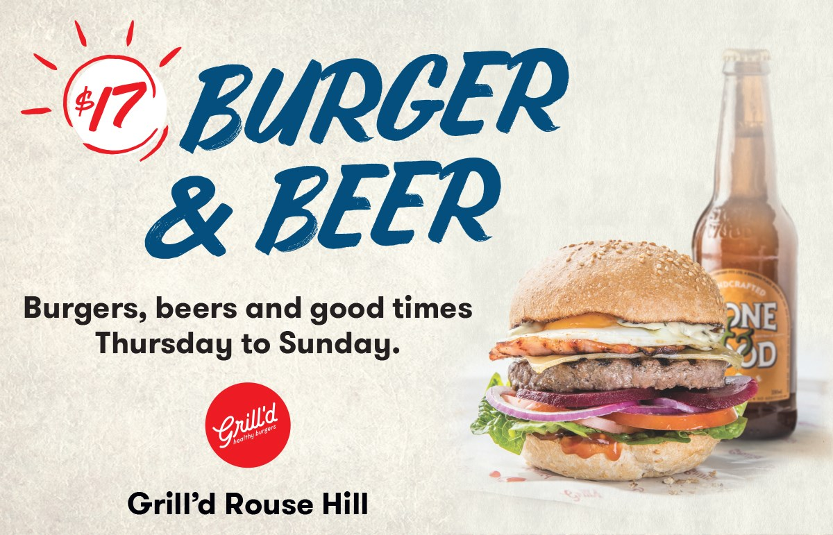 Grill'd Burgers & Beer for $17